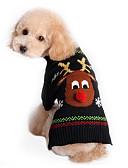 povoljno Zentai odijela-Mačka Pas Puloveri Odjeća za psa Jelen Crn Pamuk Kostim Za Proljeće & Jesen Zima Muškarci Žene Vjenčanje Božić