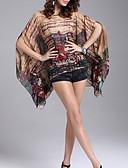 hesapli Bluz-Kadın's Polyester Desen Bluz