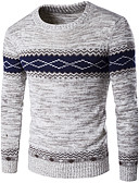 cheap Men's Sweaters & Cardigans-Men's Weekend Long Sleeve Pullover - Color Block Round Neck