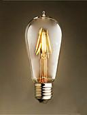 halpa Hatut-1kpl 4W 300-350lm E26 / E27 LED-hehkulamput ST58 4 LED-helmet COB Koristeltu Lämmin valkoinen 220-240V
