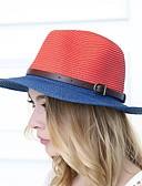 billige Hatter til damer-Dame Ferie Stråhatt Stripet / Sommer