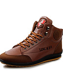 cheap Men's Jackets & Coats-Men's PU(Polyurethane) Spring / Fall Comfort Oxfords Walking Shoes Slip Resistant Blue / Light Brown / Dark Brown