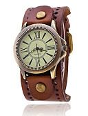 voordelige Herenhorloges-Heren Polshorloge Militair horloge Modieus horloge Kwarts Kleurrijk Punk Leer Band Amulet Vintage Informeel Bohémien Cool Zwart Wit Blauw