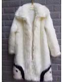 זול גברים-ג'קטים ומעילים-אחיד גדול סגנון רחוב ארוך מעיל - בגדי ריקוד גברים דמוי פרווה / שרוול ארוך