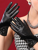 cheap Gloves-Women's Cute Party Work PU Wrist Length Fingertips Gloves