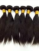 povoljno Vjenčanice-6 paketića Peruanska kosa Silky Straight Virgin kosa Ljudske kose plete 8-30 inch Isprepliće ljudske kose Odor Free / Rasprodaja Kestenjast Priroda Crna Ombre Proširenja ljudske kose Žene