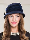 رخيصةأون قبعات نسائية-صوف / البوليستر / سبيكة قبعات مع 1 زفاف / مناسبة خاصة / فضفاض خوذة