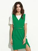 hesapli Kadın Elbiseleri-Kadın's Kılıf Elbise - Solid, Şık Diz üstü