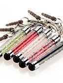 baratos Gravatas e Gravatas Borboleta-szkinston 5 mini-caneta cristal touch screen caneta anti-poeira pena plugue capacitância para iPhone / iPod / iPad / Samsung e outros
