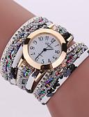 cheap Quartz Watches-Women's Bracelet Watch / Wrist Watch Cool Alloy Band Charm / Sparkle / Vintage Black / White / Blue / One Year