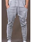 זול מכנסיים ושורטים לגברים-בגדי ריקוד גברים פעיל כותנה רזה רזה / מכנסי טרנינג מכנסיים פסים / ספורט / סוף שבוע