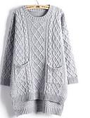 preiswerte Damen Pullover-Damen Niedlich Baumwolle Langarm Pullover - Solide
