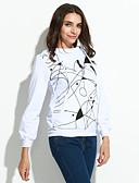 preiswerte Damen Kapuzenpullover & Sweatshirts-Damen Übergrössen Street Schick Lang Pullover - Druck Baumwolle / Herbst