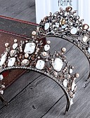 お買い得  メンズフーディー&スウェットシャツ-人造真珠 合金 - ティアラ ヘッドバンド 花輪 1 結婚式 パーティー カジュアル かぶと