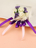 "cheap Wedding Veils-Wedding Flowers Wrist Corsages Unique Wedding Décor Special Occasion Party / Evening Satin 1.18""(Approx.3cm)"