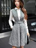 お買い得  スカート-女性用 ヴィンテージ ワイドレッグ パンツ ソリッド