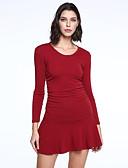 preiswerte Überbekleidung-Damen Anspruchsvoll Hülle Kleid Solide Übers Knie
