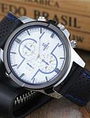preiswerte Herrenuhren-Herrn Sportuhr / Uhr mit Schlüsselanhänger / Armbanduhr Armbanduhren für den Alltag / Cool Silikon Band Freizeit / Kleideruhr Schwarz / Weiß / Blau