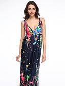 baratos Vestidos Femininos-Mulheres Tamanhos Grandes Boho balanço Vestido - Camadas, Arco-Íris Com Alças Longo