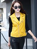 preiswerte T-Shirt-Damen-Volltonfarbe Schick & Modern Lederjacken Formaler Stil