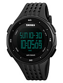 cheap Sport Watches-SKMEI Men's Sport Watch Alarm / Calendar / date / day / Chronograph PU Band Black / Water Resistant / Water Proof / Stopwatch / Noctilucent / Maxell2025 / Two Years