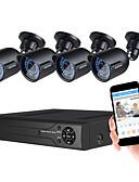 cheap Men's Shirts-JOOAN® Security System 4 X 720P Weatherproof TVI Camera And 1080N 8CH DVR Recorder Support AHD/TVI/CVI/CVBS