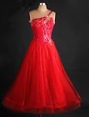 hesapli Gece Elbiseleri-Balo Dansı Elbiseler Kadın's Performans ChinIon / Organze Kristaller / Yapay Elmaslar Kolsuz Elbise