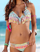 cheap Women's Swimwear & Bikinis-Women's Halter Bikini - Geometric
