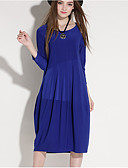 cheap Women's Tops-Women's Holiday Vintage / Casual Lantern Sleeve Loose Dress - Solid Colored
