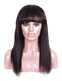 billige Armbåndsur-Ekte hår Blonde Forside Parykk Rett Yaki 130% tetthet 100 % håndknyttet Afroamerikansk parykk Naturlig hårlinje Kort Medium Lang Dame