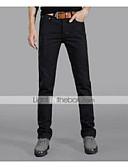 abordables Pantalones y Shorts de Hombre-Hombre Algodón Vaqueros Vaqueros Pantalones - Un Color