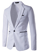 cheap Men's Jackets & Coats-Men's Business Simple Casual Business Casual Slim Blazer-Color Block / Long Sleeve / Work