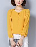 abordables Camisas y Camisetas para Mujer-Mujer Blusa Un Color Poliéster