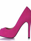 abordables Pantalones para Mujer-Mujer-Tacón Stiletto-Confort-Tacones-Boda Oficina y Trabajo Vestido Fiesta y Noche-Terciopelo-Negro Azul Rosa Morado Rojo Bermellón