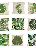 baratos Calcinhas-9 pçs Linho Fronha Cobertura de Almofada, Sólido Textura Tropical Estilo Praia