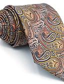 cheap Men's Ties & Bow Ties-Men's Party Work Basic Rayon Necktie - Color Block Paisley Jacquard Basic