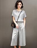 povoljno Ženski dvodijelni kostimi-Žene Kratka Majica s rukavima - Dungi Hlače