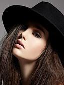 abordables Sombreros de  Moda-Mujer Lana Sombrero Fedora - Vintage Un Color