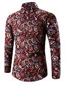 baratos Camisas Masculinas-Homens Camisa Social Sólido Estampa Colorida Algodão