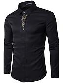 billige Herreskjorter-Bomull Tynn Klassisk krage Skjorte Herre - Ensfarget Arbeid / Langermet