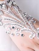 저렴한 볼룸 댄스 웨어-레이스 손목 길이 장갑 신부 장갑 / 파티 / 이브닝 장갑 와 크리스탈