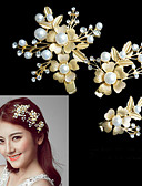 olcso Örömanya ruhák-Kristály / Ötvözet Fejfedők / Hair Clip / koszorúk val vel Virág 1db Esküvő / Különleges alkalom Sisak