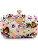 זול שמלות נשים-בגדי ריקוד נשים שקיות פּוֹלִיאֶסטֶר תיק ערב דמוי פנינה / קריסטל / ריינסטון / פרח קשת / חתונה תיקים
