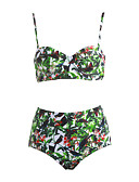cheap Women's Swimwear & Bikinis-Women's Halter Tankini Print