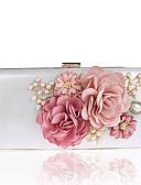 billige Kjoler til brudens mor-Dame Tasker polyester Aftentaske Imitationsperler / Blomst Blomstret mønster Sort / Rød / Rosa / Bryllup tasker / Bryllup tasker