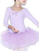preiswerte Kindertanzkleidung-Ballett Kleider Training Baumwolle Rüschen / Farbaufsatz Langarm Normal Gymnastikanzug / Einteiler