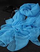 abordables Bufandas de Raso Chics-Mujer Raso Rectángulo - Bonito Fiesta Un Color