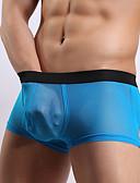 ieftine Men's Exotic Underwear-Bărbați Plasă, Mată - Super Sexy Chiloți Boxeri Bărbătești Talie medie