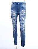 tanie Getry-Damskie Weekend Jeans Legging - Kwiaty Średni Talia / Rurki