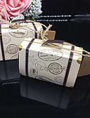 abordables Adhesivos y Etiquetas-De Forma Cúbica Papel de tarjeta Soporte para regalo  con Cintas Cajas de regalos